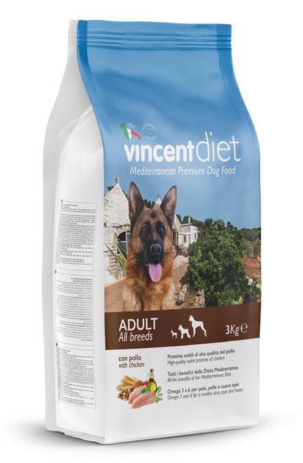 Vincent Diet Adult Chicken suņu barība