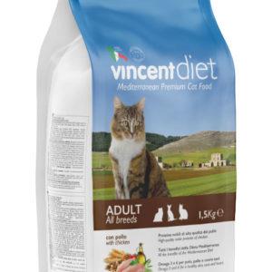 Vincent DIET ADULT CAT WITH CHICKEN 1,5 KG