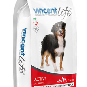 VINCENT LIFE DOG ACTIVE WITH CHICKEN AND RICE 15kg