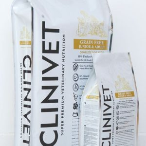 CLINIVET GRAIN FREE JUNIOR & ADULT WITH CHICKEN 12kg